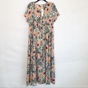 NWT Roolee Floral Maxi Dress Size XXL